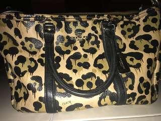 Handbag Coach Leopard Limited edition