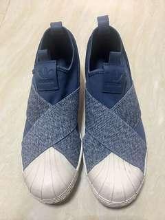 Adidas Superstar Slip On Denim Blue