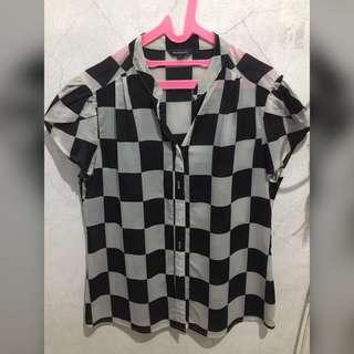 Checkered Blouse The Executive