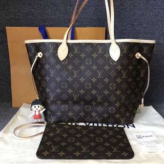💯% Authentic LV Neverfull MM