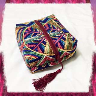 Patterned Box Pouch