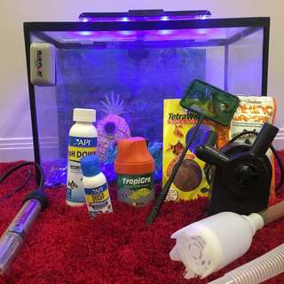 Fish tank with extras