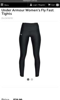 BNWOT Under Armour full length tights small