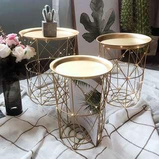 Nordic Simple Design Basket Coffee Table, 北歐簡約幾何設計茶几+ 收納籃