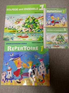 Yamaha Junior Extension Course (JXC) Repertoire & Solfege and Ensemble CDs & Books