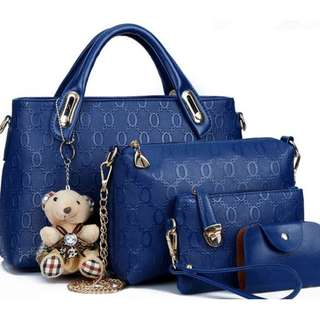 Lady handbags shoulder bags crossbody bag 4 piece set