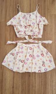 2 piece floral apparel