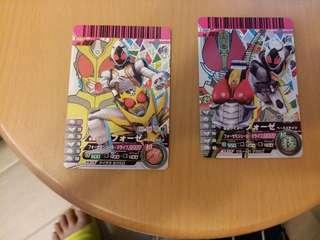 幪面超人卡第六彈 舊版 兩張