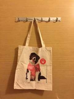 Cotton On 狗仔圖案布袋tote bag