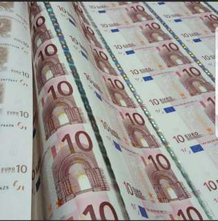 Euro €10 Uncutmoney of 54in1