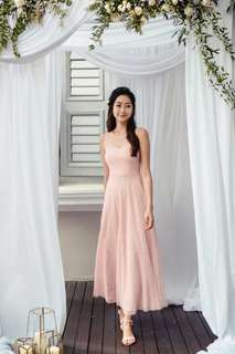 Thread Theory Seas The Moment Pleated Tulle Dress in Blush Pink