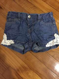 Fox kids denim shorts with lace