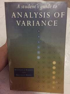 Pl2132 Analysis of Variance