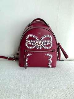 New! Fendi Embellished Backpack