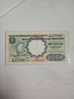 1959  Malaya  $1  Note