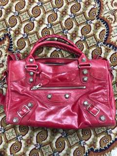 AUTHENTIC USED Balenciaga Giant 21 Red City