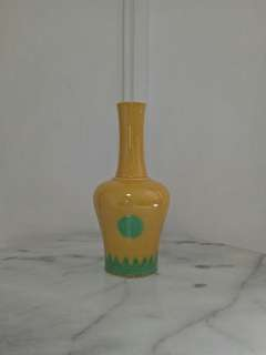 Vintage Porcelain Vase With Enamel Painting Height 23cm perfect condition