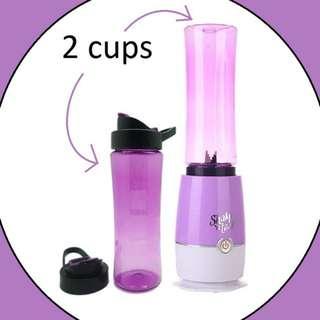 Jual Blender Mini Juicer Pembuat Jus 2 Tabung Cup Gelas Botol