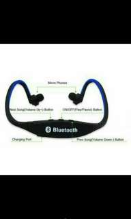 Bluetooth headset with memory slot