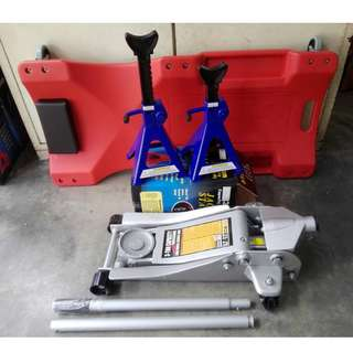 3 Ton Low Profile Floor Jack With 2pcs Jack Stand & Creeper