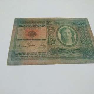 1912年 德國100元紙幣