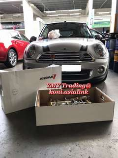 Mini Cooper R57 cabriolet owner with existing stock absorbers & eibach pro kit lowering spring upgrades Koni Fsd dampers (self Adjustable damping feature absorber ) with the existing matching eibach pro kit spring setup