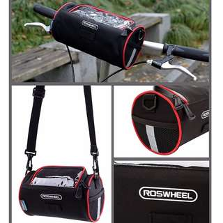Roswheel Cylinder Bicycle Handlebar Front Bag/Shoulder Bag