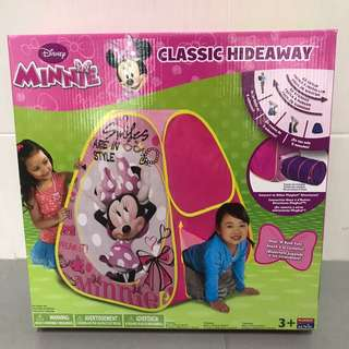 Brand New Playhut Minnie Mouse Classic Hideaway Playtent