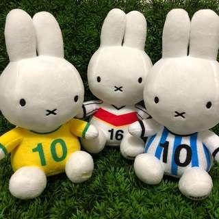 [小型]  可愛Miffy絨毛娃娃 球衣篇 #兔子娃娃#miffy兔