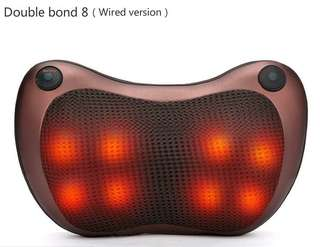 New ! Car home cervical massage neck waist back body electric multifunctional low voltage heating massage pillow - International