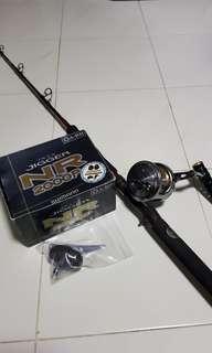 Xzoga Rod & shimano OJ N2000P reel (Heavy Bottom Set Up)
