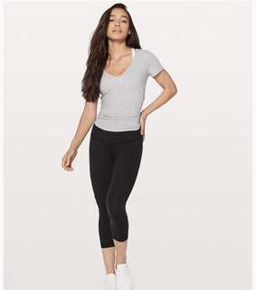 Lululemon Wunder Under Low Rise Crop, BLACK, sz2/AU6