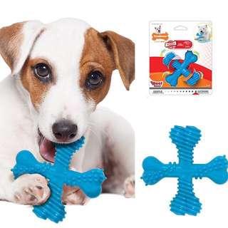 "SMALL BRAND NEW Nylabone Dura Chew ""X"" Bone Beef Flavored Dog Chew Toy SMALL"