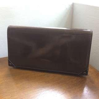 Alexander Wang Prisma Continental Zip Wallet / Clutch in Matte Oxblood (Burgundy-Brown) Patent Leather