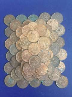 Singapore 1 Cent ( 2nd Series 1990s & 2000s) , 100 pcs various conditions , not for fussy buyers , price include mailing charges