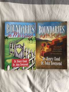 2 books on Boundaries: with Kids & in Marriage by Henry Cloud & John Townsend