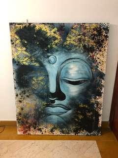 Traditional Balinese painting - Buddha