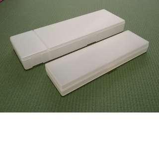 Muji translucent pencil cases x 2