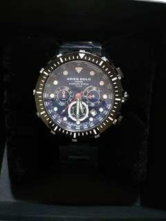 Aries Gold Watch