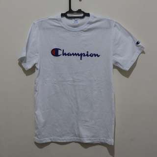Original Champion scrip tees white