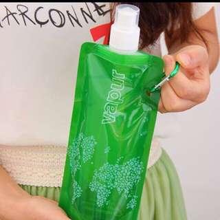 Foldable plastic water bottle 480mL