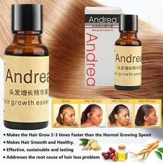 Andrea hair growth