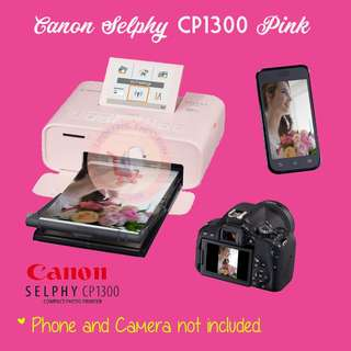 [BRAND NEW] Canon Selphy CP1300 Compact Wireless Photo Printer Pink
