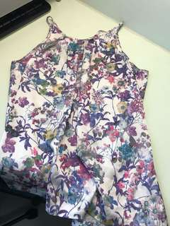 TEMT Front pleated floral top