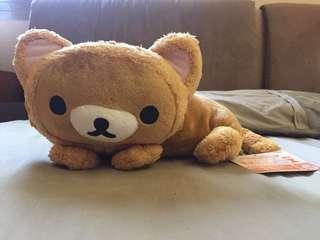 【日本正版】拉拉熊 貓咪造型趴姿娃娃 玩偶 貓咪 懶懶熊 鬆弛熊 一番賞 景品 變裝 貓咪變裝 貓變裝【現貨】