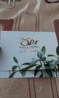 The Spa wellness gift certificate
