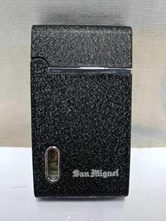 絕版二手 SAN MIGUEL 生力啤黑色大理石紋防風打火機 1 件