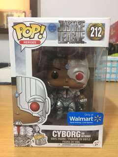 Funko Pop! Heroes - Justice League: Cyborg & Motherbox (Walmart Exclusive)