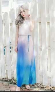 -reduce- Ombre pastel maxi dress
