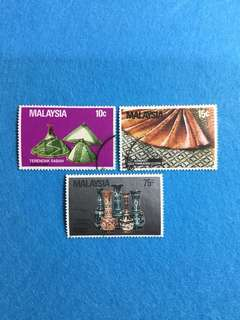 1982 Handicraft of Malaysia Set of 3V Used